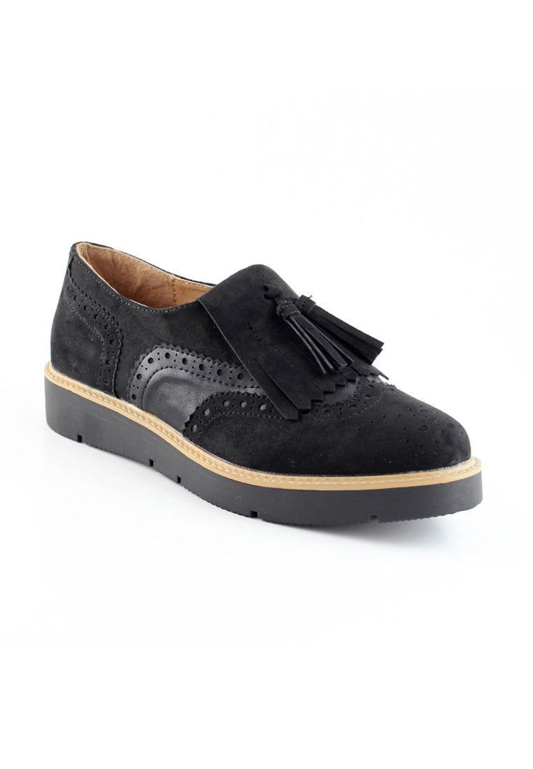 Womens Black Sneakers - London Rag India