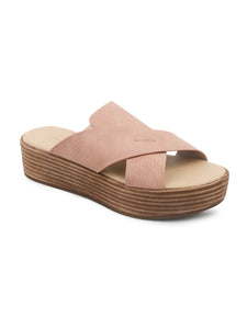 Nude Cross Strap Flatform Sandals - London Rag India