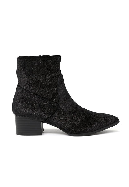 Women's Black Sparkling Glitter Boots - London Rag India