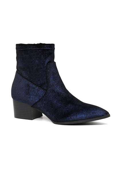 Women's Blue Sparkling Glitter Boots - London Rag India