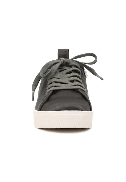 Shawna Women's Grey Metallic Pearl Lace Up Sneakers - London Rag India