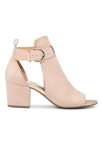 Womens Nude Peep Toe Ankle Strap Sandals - London Rag India