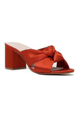Rust Block Heel Sandal - London Rag India