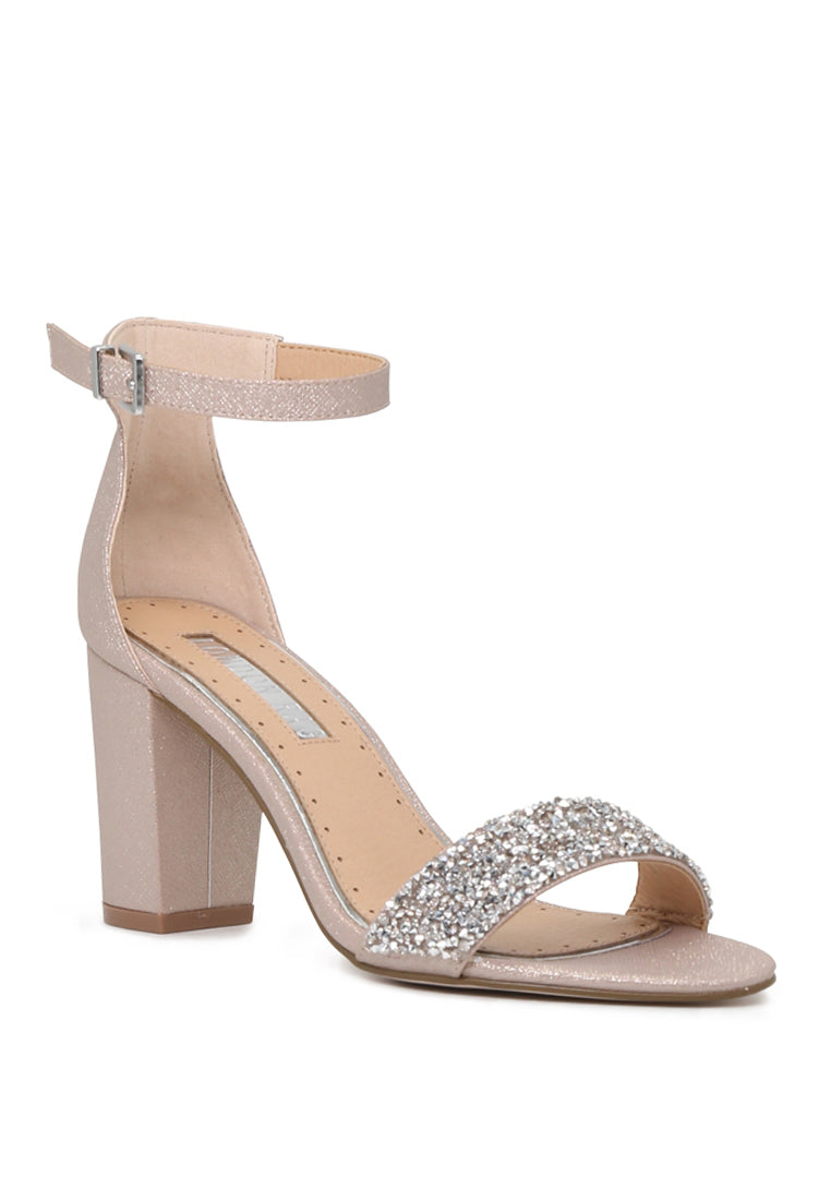 Heather Sophie Natural Color Ankle Strap Open Toe Sandals