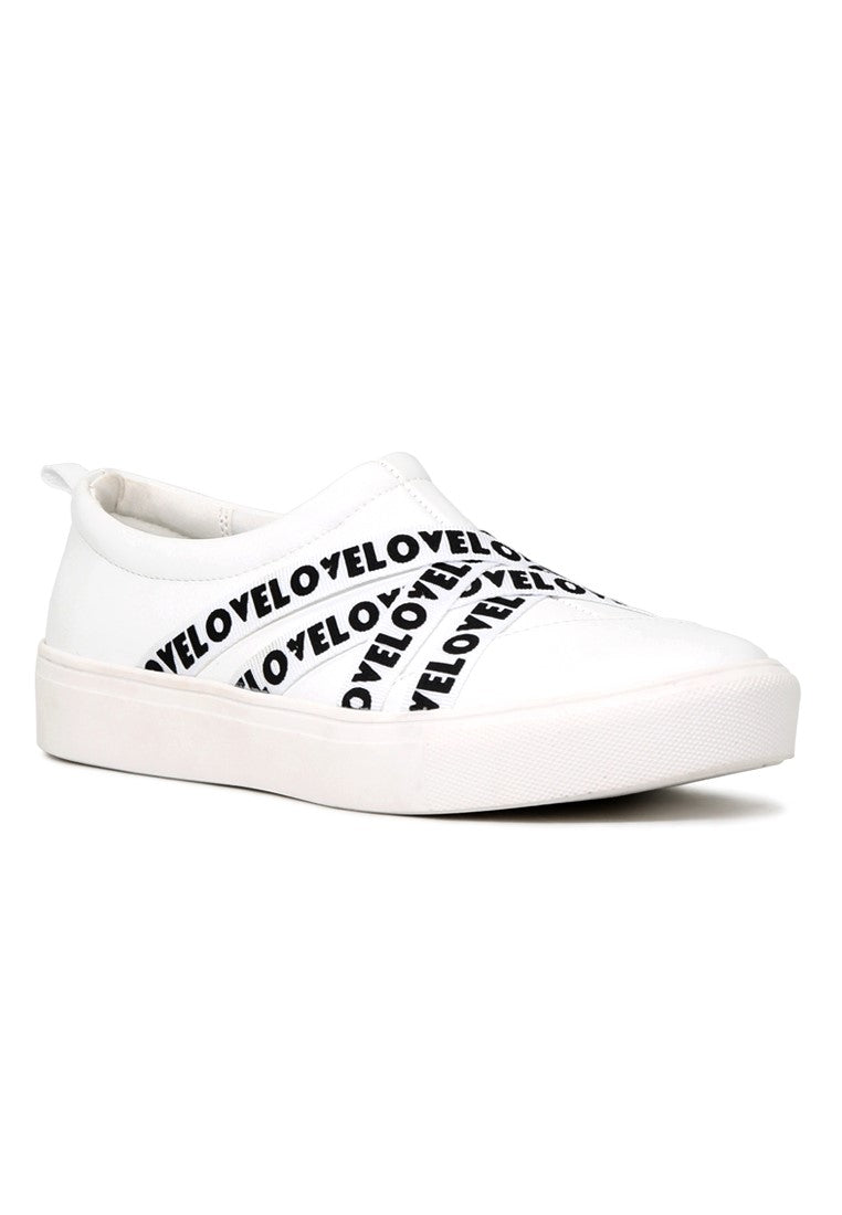 White Wrap Slip-On Sneakers - London Rag India