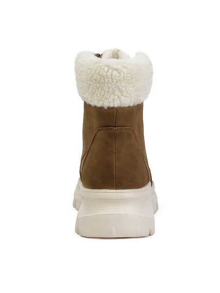 Tan Color Cushioned Collar Ankle Boots - London Rag India