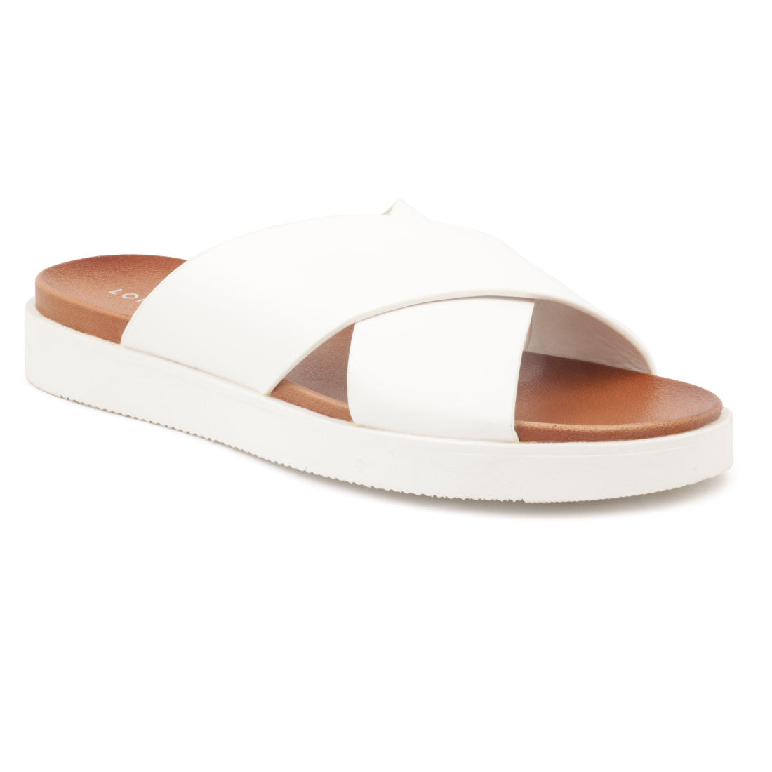 White Double Strap Slip-On