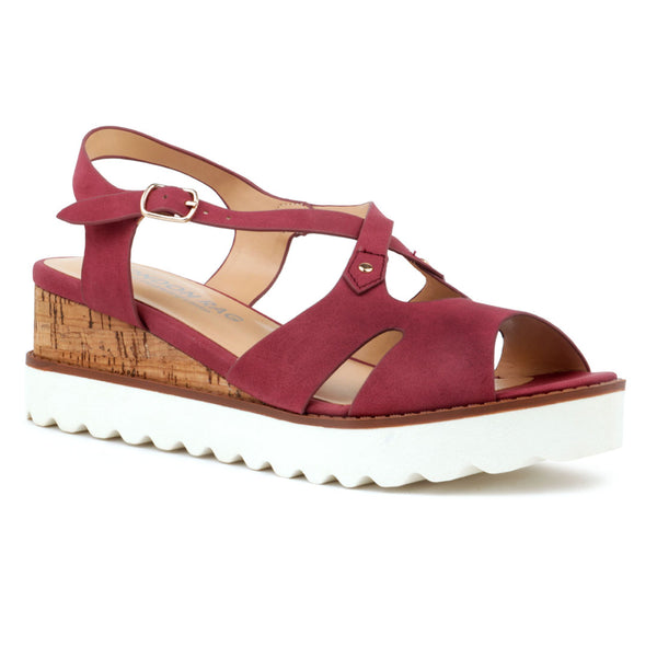 Berry Wedge Sandals