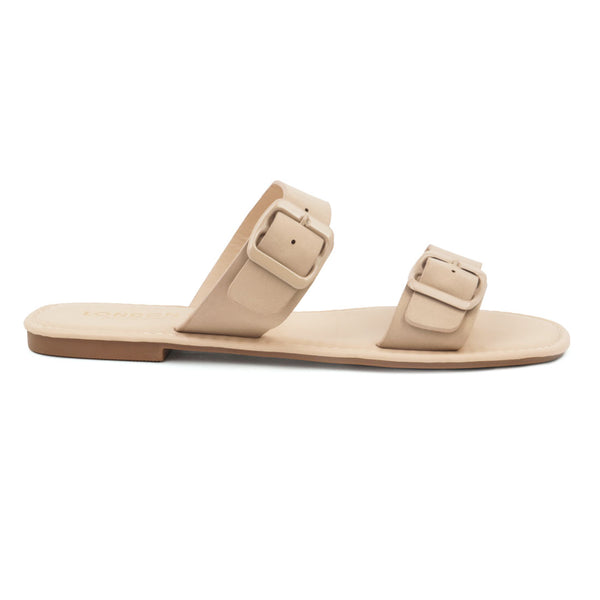 Nude Slip-On with two straps