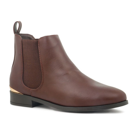 Brown Shiny Chelsea Boot