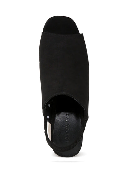 Womens Black Sabella Slingback Slip-On Sandals - London Rag India