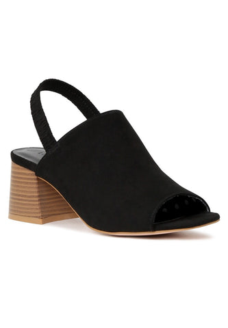 Black Sabella Slingback Slip-On Sandals - London Rag India