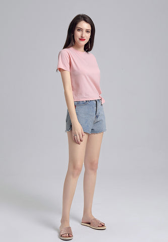 Pink Side Knot Top - London Rag India