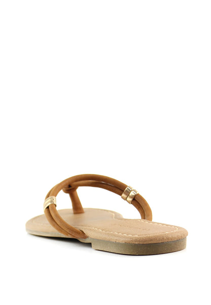 Tan Thong Flat Flip Ons - London Rag India