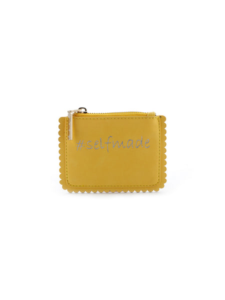 Printed Yellow Coin Purse - London Rag India