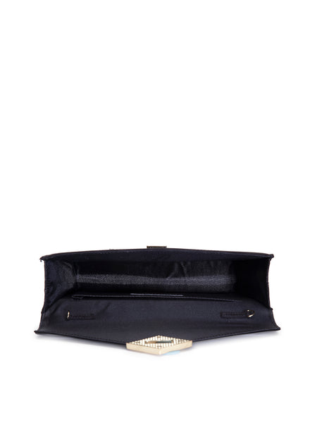 Interlocking Black Sling Bag - London Rag India