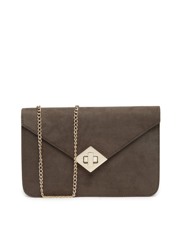 Womens Khaki Sling Bag - London Rag India
