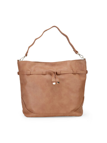 Womens Tan Tote Bag - London Rag India