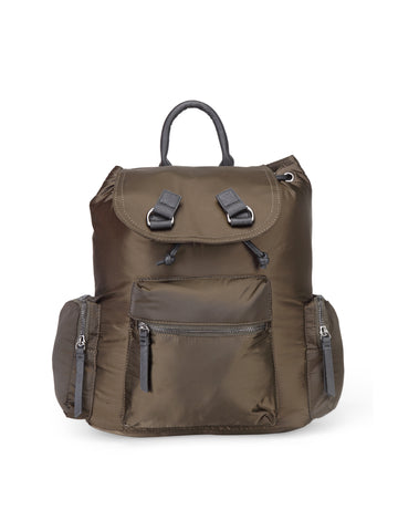 Womens Khaki Backpack - London Rag India