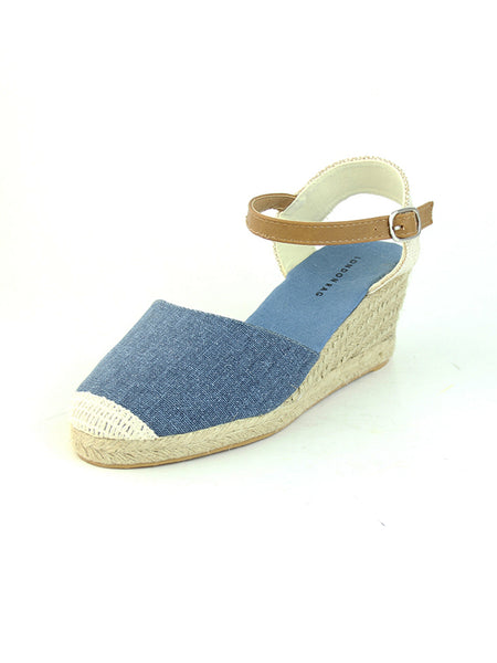Blue Wedge Sandals - London Rag India