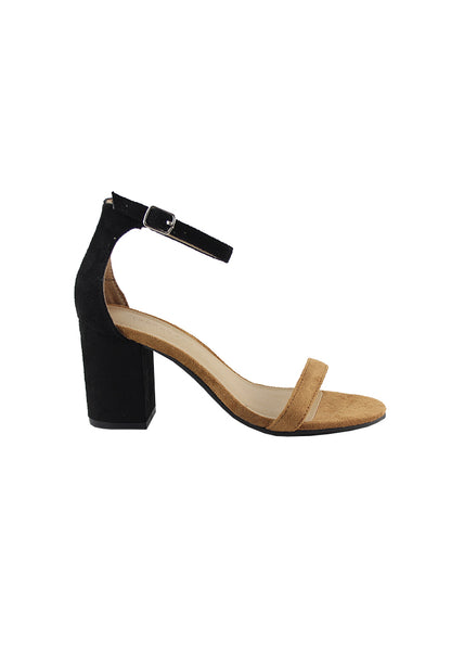 Womens Black/Natural Heels Sandals - London Rag India