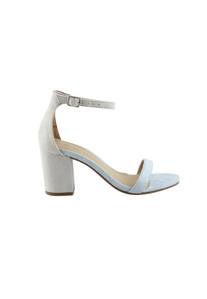 Dusty/Blue/Grey Heels Sandals - London Rag India