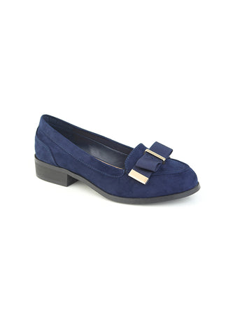 Womens Navy Ballerina - London Rag India