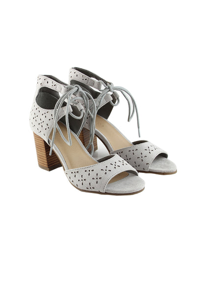 Lt.Grey Heels Sandals - London Rag India