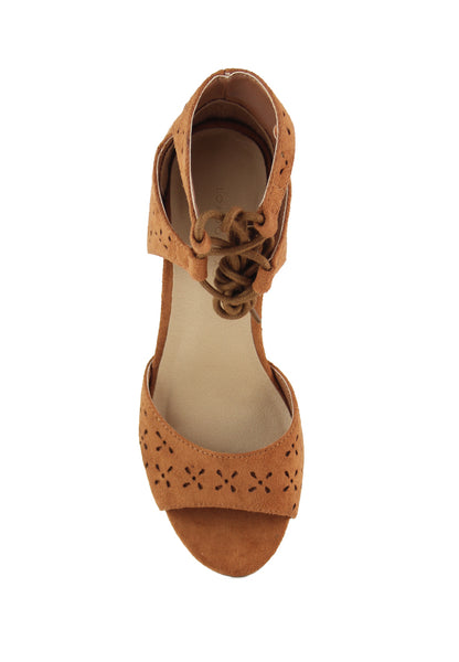 Tan Heels Sandals - London Rag India