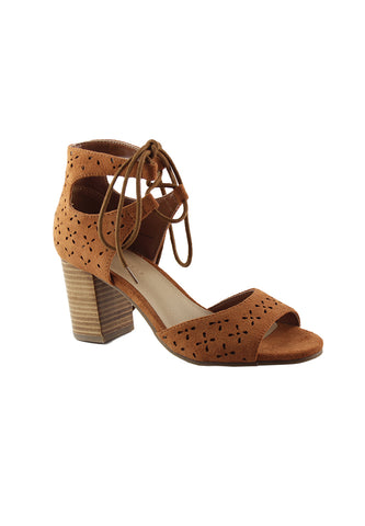 Womens Tan Heels Sandals - London Rag India