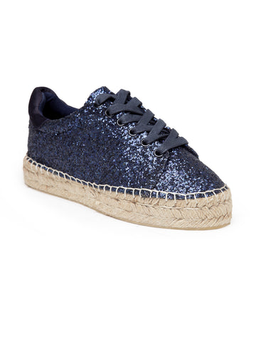 Womens Navy Lace-Up Espadrillie Sneaker - London Rag India