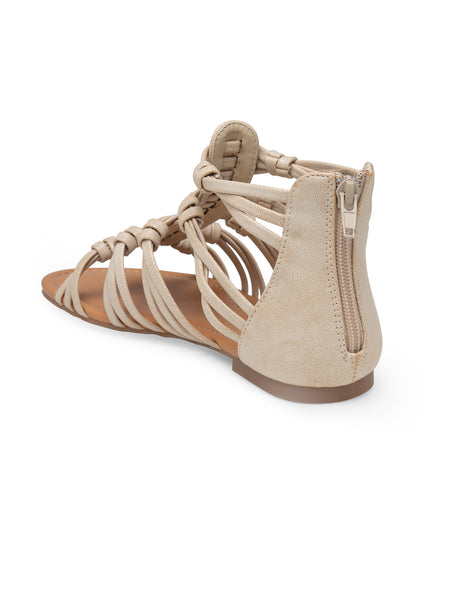 Women Natural Color Flat Sandal - London Rag India