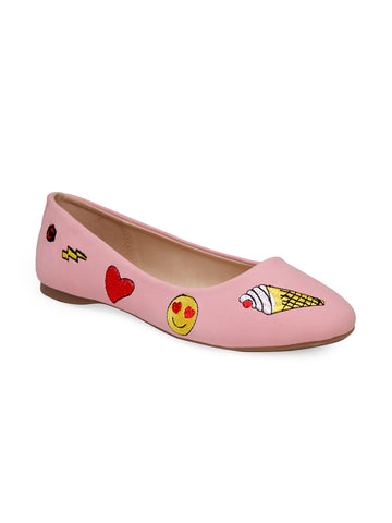 Women's Pink Ballerinas - London Rag India