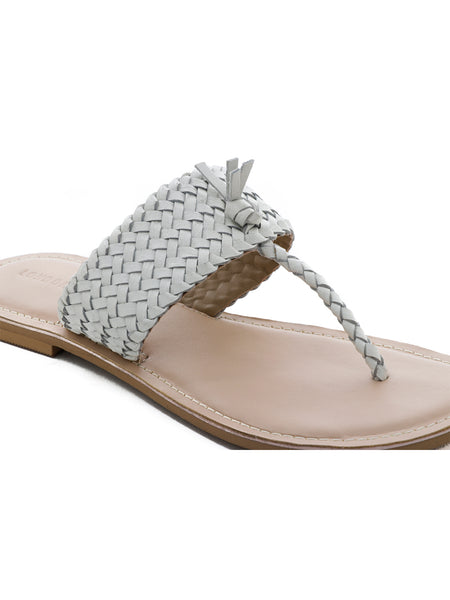 White Weaved Thong Sandal - London Rag India