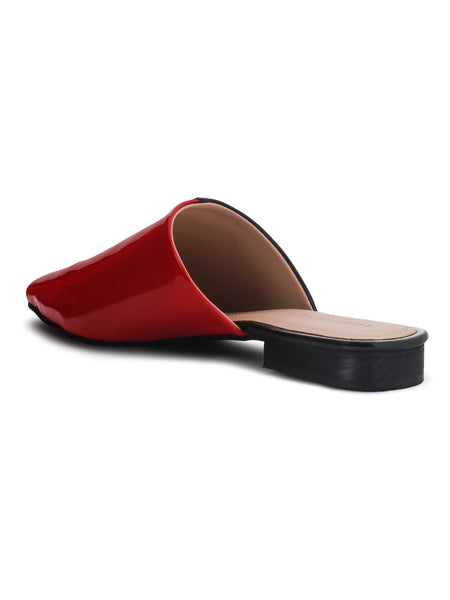 Pointed Toe Contrast Mules - London Rag India