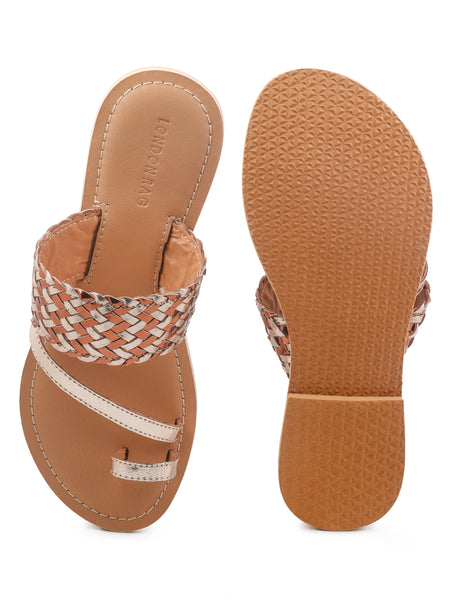 Toe Ring Strap Flats - London Rag India
