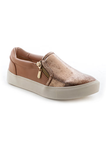Women's Nude Color Sneaker - London Rag India