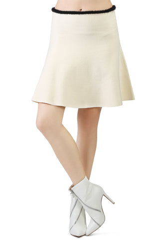 White casual knit skirt - London Rag India