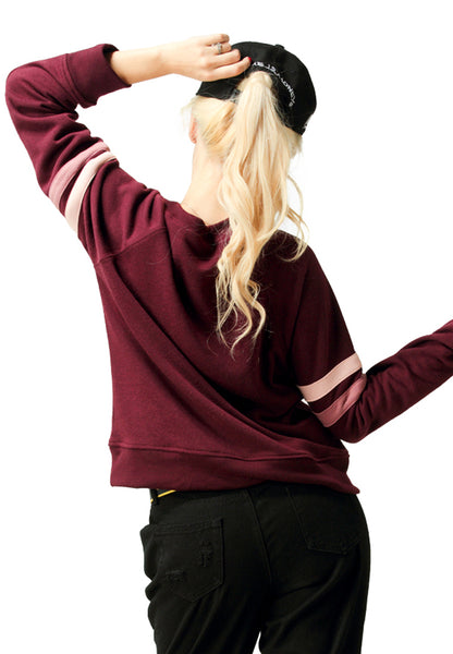 Maroon Crew Neck Sweatshirt - London Rag India