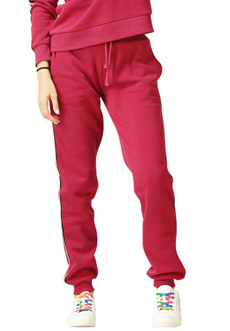 Wine Drawstring Joggers - London Rag India