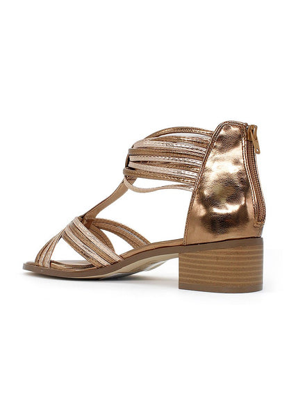 Womens Bronze Ankle Cuff Thong Sandals - London Rag India