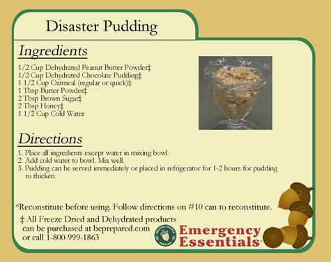 Disaster Pudding: Learn how to make this simple and quick dessert