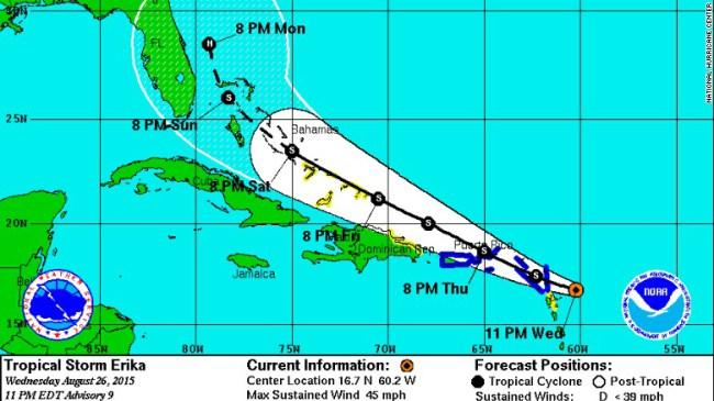 Tropical Storm Erika is Coming. Are You Complacent?