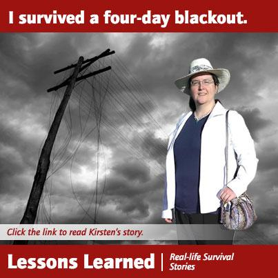 Lessons Learned: Kirsten Survived a Four-Day Blackout