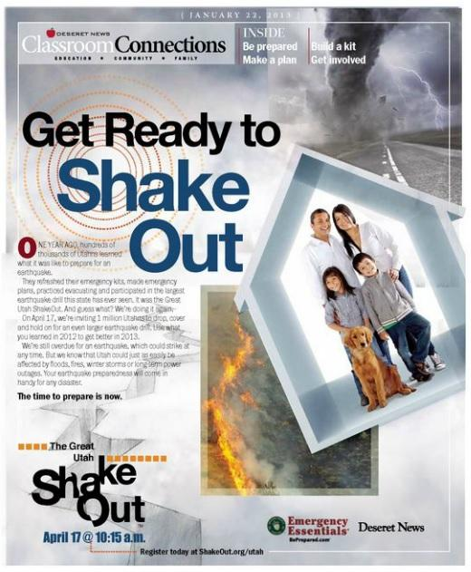 """Get Ready to Shake Out"" - Free Download about Earthquake Preparedness"