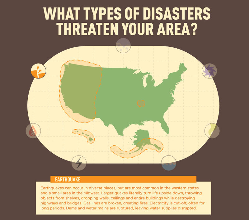 Infographic: US Earthquake Map - Disasters in Your Area