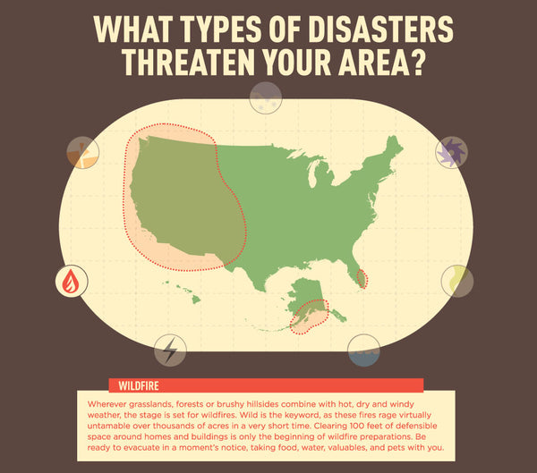 Infographic: US Wildfire Map - Disasters in Your Area