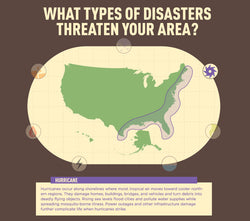 Infographic: US Hurricane Map - Disasters in Your Area