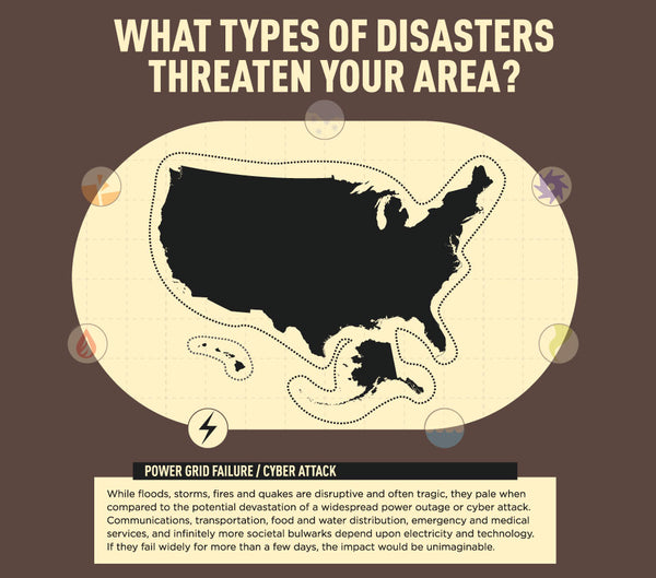 Infographic: US Power Grid Failure & Cyberattack - Disasters in Your Area