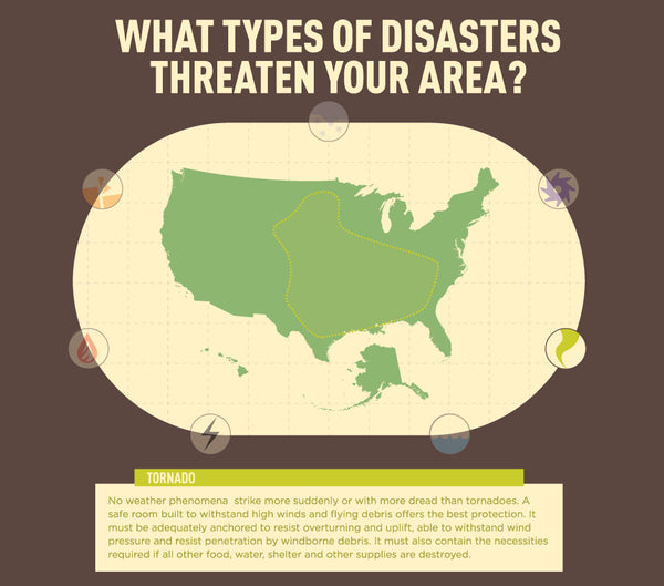 Infographic: US Tornado Map - Disasters in Your Area